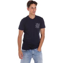 textil Hombre Camisetas manga corta Key Up 2S431 0001 Azul