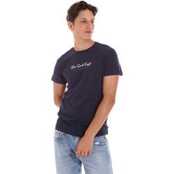 textil Hombre Camisetas manga corta Key Up 2S438 0001 Azul