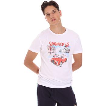 textil Hombre Camisetas manga corta Key Up 2S427 0001 Blanco