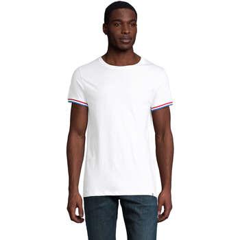 textil Hombre Camisetas manga corta Sols CAMISETA MANGA CORTA RAINBOW Blanco