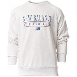 textil Sudaderas New Balance NB Essentials Athletic Club Crew Sea Salt Heather