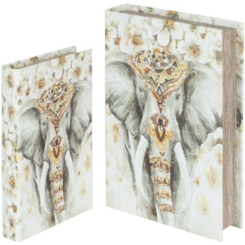 Casa Cestas, cajas y cubos de basura Signes Grimalt Cajas Libro Elefante Set 2U Multicolor