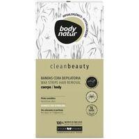 Belleza Mujer Tratamiento corporal Body Natur Clean Beauty Bandas Cera Cuerpo Pieles Sensibles 16 U