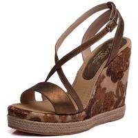 Zapatos Mujer Sandalias Mtbali Sandalia Alpargata con cuña, Mujer - Modelo Moraira marrón