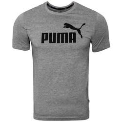 textil Hombre Camisetas manga corta Puma Ess Logo Tee Grises