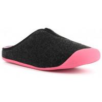 Zapatos Mujer Pantuflas Nordikas 1320/F Noir