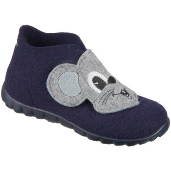 Zapatos Niño Pantuflas para bebé Superfit Happy Grises, Azul marino