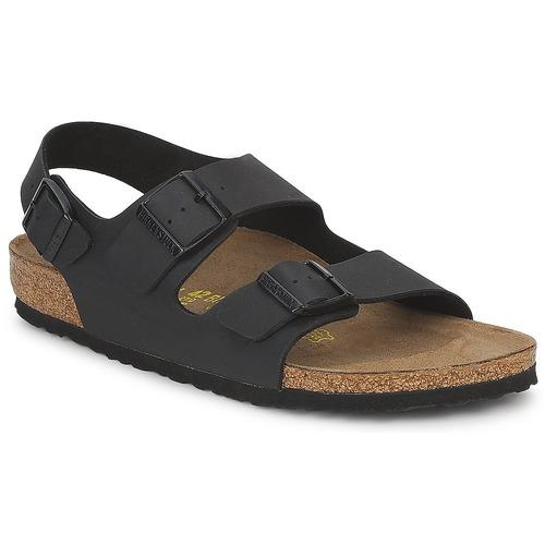 Salida frutas Permiso  Birkenstock MILANO Negro - Envío gratis | Spartoo.es ! - Zapatos Sandalias  Hombre 64,00 €