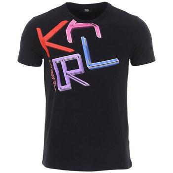 textil Hombre Camisetas manga corta Karl Lagerfeld - kl21mts02 Negro
