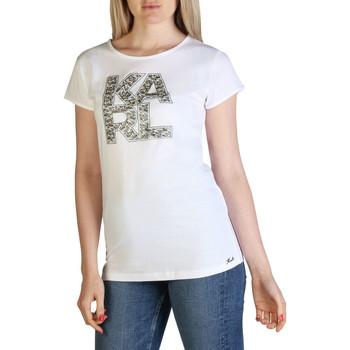 textil Mujer Camisetas manga corta Karl Lagerfeld - kl21wts01 Blanco