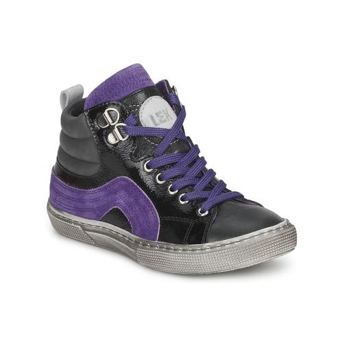 Zapatos Niño Zapatillas altas Little Mary OPTIMAL Negro / Violeta