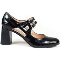 Zapatos Mujer Zapatos de tacón Gennia Salones Tacones Negros Comodos Piel Mujer Tacon Ancho -VRADA Negro