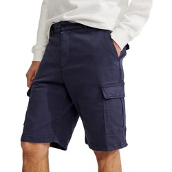 textil Hombre Shorts / Bermudas Ecoalf Seaham Coated AZUL MARINO
