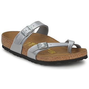 Zapatos Mujer Zuecos (Mules) Birkenstock MAYARI Plata