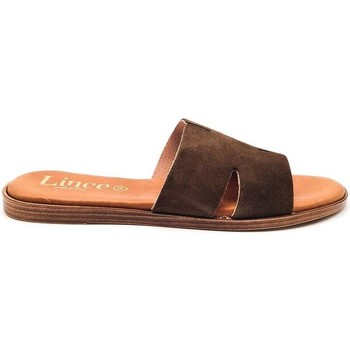Zapatos Mujer Zuecos (Mules) Lince 07912 Marrón