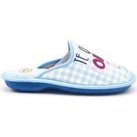 Zapatos Mujer Pantuflas Cosdam 4044 Azul