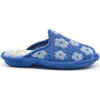 Zapatos Mujer Pantuflas Cosdam 4035 Azul