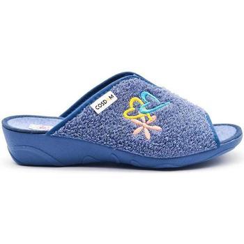 Zapatos Mujer Pantuflas Cosdam 0816 Azul