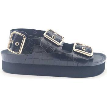 Zapatos Mujer Sandalias Genuins G103665 Negro