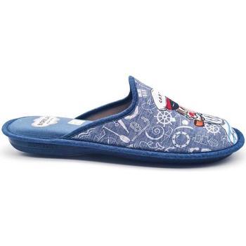 Zapatos Hombre Pantuflas Cosdam 1466 Azul
