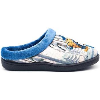 Zapatos Mujer Pantuflas Roal 12213 Azul