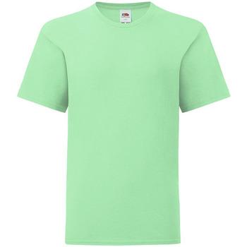 textil Niños Camisetas manga corta Fruit Of The Loom 61023 Verde