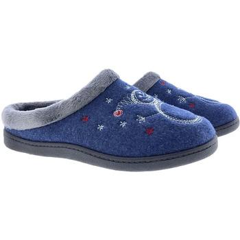 Zapatos Mujer Pantuflas Plumaflex By Roal Zapatillas De Casa Roal 12237 Marino Azul