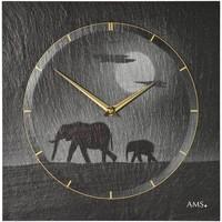 Casa Relojes Ams 9524, Quartz, Black, Analogue, Modern Negro