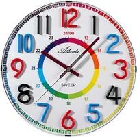 Casa Relojes Atlanta 4480/0, Quartz, White, Analogue, Modern Blanco