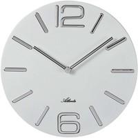 Casa Relojes Atlanta 4512/0, Quartz, White, Analogue, Modern Blanco