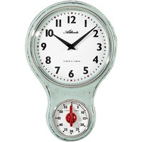 Casa Relojes Atlanta 6124/6, Quartz, White, Analogue, Classic Blanco