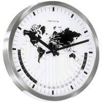 Casa Relojes Hermle 30504-002100, Quartz, White, Analogue, Modern Blanco