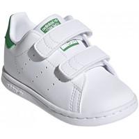 Zapatos Niños Zapatillas bajas adidas Originals Stan smith cf i Blanco