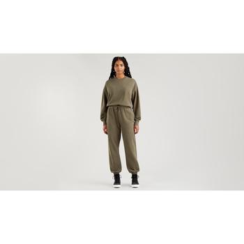 textil Mujer Pantalones chinos Levi's Strauss PANTALON WFH SWEATPANTS LEVIS MUJER Verde