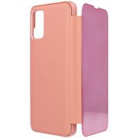 Bolsos Funda móvil Samsung Funda libro espejo para  Galaxy A02s Oro rosa