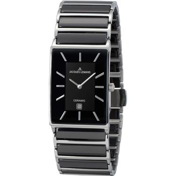 Relojes & Joyas Mujer Relojes analógicos Jacques Lemans 1-1593.1A, Quartz, 28mm, 5ATM Plata