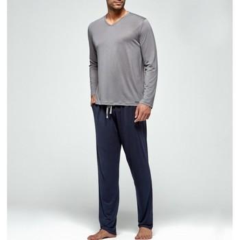textil Hombre Pijama Impetus Pijama  Soft Premium Largo Blue