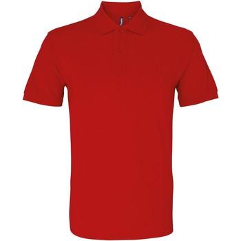 textil Hombre Polos manga corta Asquith & Fox AQ082 Rojo