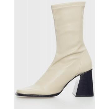 Zapatos Mujer Botines Angel Alarcon 21564 Beige