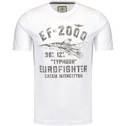 textil Hombre Camisetas manga corta Aeronautica Militare 1720 BLANCO