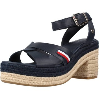 Zapatos Mujer Sandalias Tommy Hilfiger INTERLACE MID HEEL SA Azul