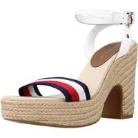 Zapatos Mujer Sandalias Tommy Hilfiger SHIMMERY RIBBON HEEL SAN Blanco