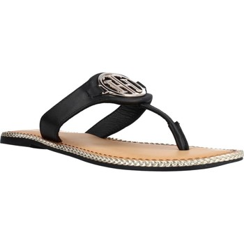 Zapatos Mujer Sandalias Tommy Hilfiger ESSENTIAL LEATHER FLAT S Negro