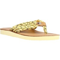Zapatos Mujer Sandalias Tommy Hilfiger LEATHER FOOTBED BEACH Amarillo