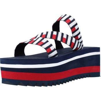 Zapatos Mujer Sandalias Tommy Jeans FLAG WEBBING FLATFORM MU Azul