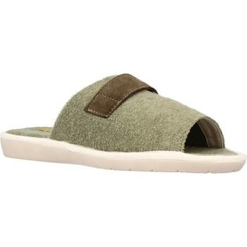 Zapatos Hombre Pantuflas Nordikas 7336B Verde