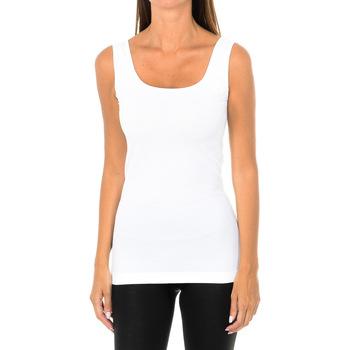Ropa interior Mujer Camiseta interior Intimidea Camiseta Tirantes Empire Blanco