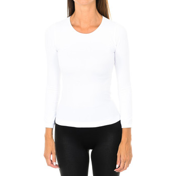 textil Mujer Camisetas manga larga Intimidea Camiseta manga larga Texas Blanco