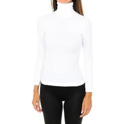 textil Mujer Camisetas manga larga Intimidea Camiseta manga larga Nevada Blanco