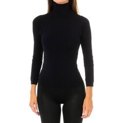 textil Mujer Camisetas manga larga Intimidea Camiseta manga larga Nevada Negro